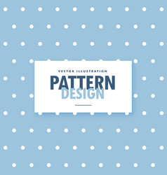 Cute blue background with white polka circle dots vector