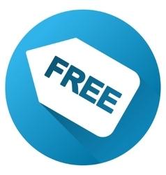 Free Sticker Gradient Round Icon vector image