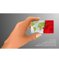 gift card in hand vector image vector image