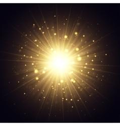 Golden explosion vector
