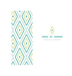 Green ikat diamonds frame horizontal seamless vector image vector image