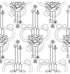 Hamsa hand of fatima seamless pattern vector