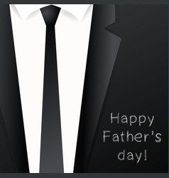 Happy fathers day background - suit with necktie vector