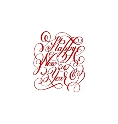 happy new year handwritten lettering text vector image vector image