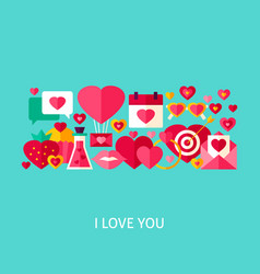 I love you greeting concept vector