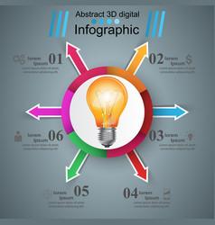 Infographic design bulb light icon vector