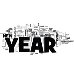 is it your year text background word cloud concept vector image vector image