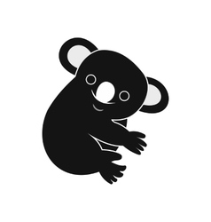 Koala icon simple style vector