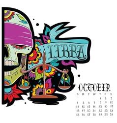 Libra color vector image