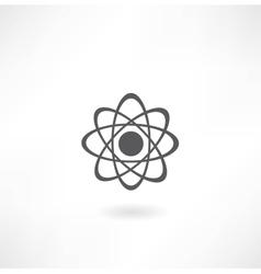 molecular diagram icon vector image vector image