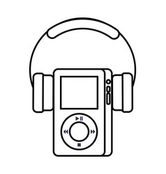 Multimedia mp player and headphones display button vector