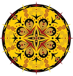 Patterned circle vector