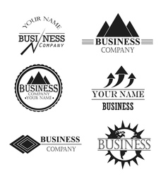 Set logos business company vector image