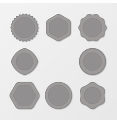 Set of grey stamps distressed stamp texture post vector