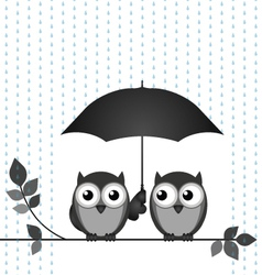 Sheltering from the rain vector