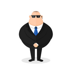 strong bodyguard security guard vector image