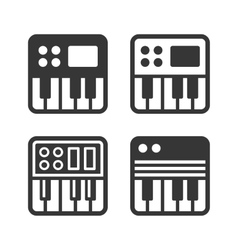 Synthesize icon set vector