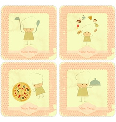 Vintage Set of Menu Card Designs vector image vector image