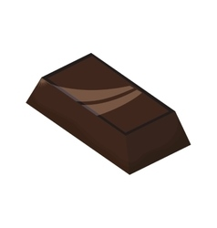 Chocolate sweet dessert delicious icon vector