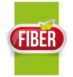 Fiber in foods button vector