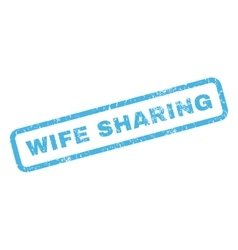 Wife sharing rubber stamp vector