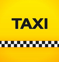 Taxi word on yellow background vector