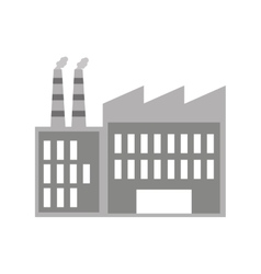 Factory building isolated icon vector