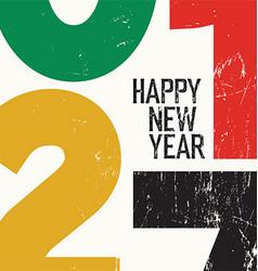2017 happy new year card grunge vector