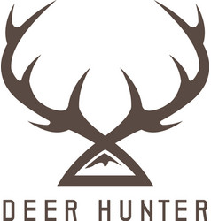 Deer horns design templatehunting vector