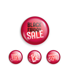 Different sale magnet buttons special offer vector