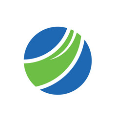 Abstract circle business logo vector