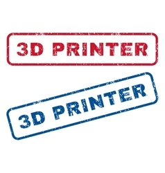 3d printer rubber stamps vector