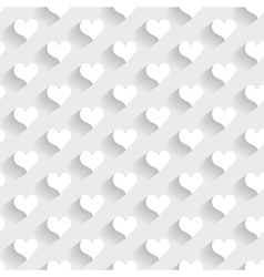 3d seamless pattern with hearts vector image
