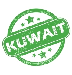 Kuwait green stamp vector