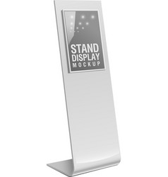 Freestanding information kiosk terminal stand vector image