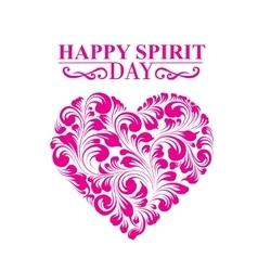 Spirit day heart vector image