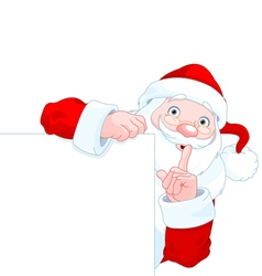 Santa claus holds sing vector
