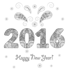 Happy new year 2016 congratulatory background with vector