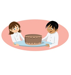 chefs cake vector image