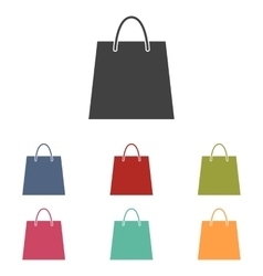 Shopping bag icons set vector
