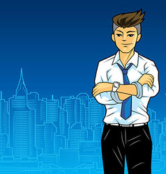 Office man in city vector