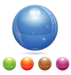 3d glass ball vector
