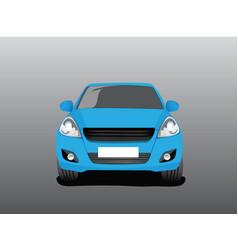 blue car vector image vector image