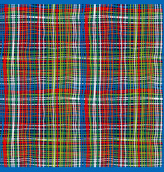 Bold plaid pattern with thin brushstrokes vector