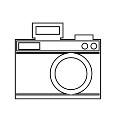 camera photographic drawing icon vector image vector image