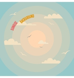 Circles on a sunrise background vector