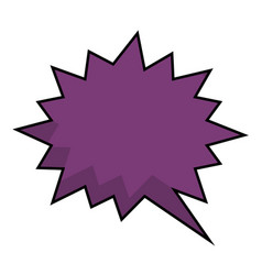 Comic speech bubble icon vector