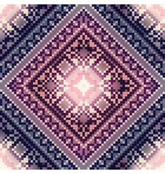Cross-stitch pattern on blurred background vector
