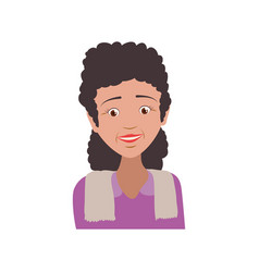 Elder female person avatar vector