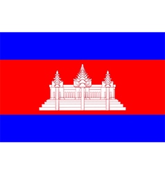 Flags of cambodia vector image vector image